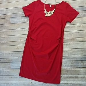Sz XL Pinkblush Fitted Maternity Dress
